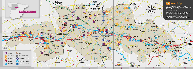 Peñaranda De Duero Mapa.Gentilicios De Los Municipios De Nuestra Ruta Del Vino