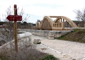 Nuevo Puente Duero de Peñafiel. Vista desde Viejo Puente Duero.