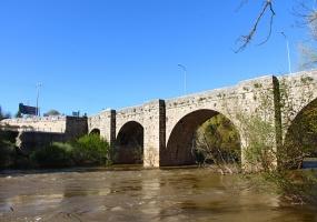 Puente renacentista que une Quintanilla de Onésimo y Olivares