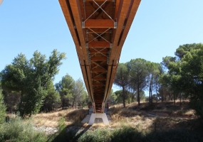 Pasarela GR 14 en Pesquera de Duero
