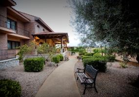 Hotel Tudanca Aranda: Paseo entre habitaciones y viñedo