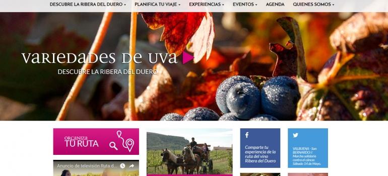Captura de imagen de la nueva web