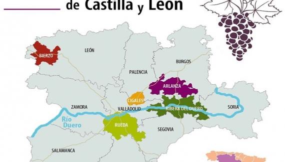 Mapa Rutas del Vino de CyL